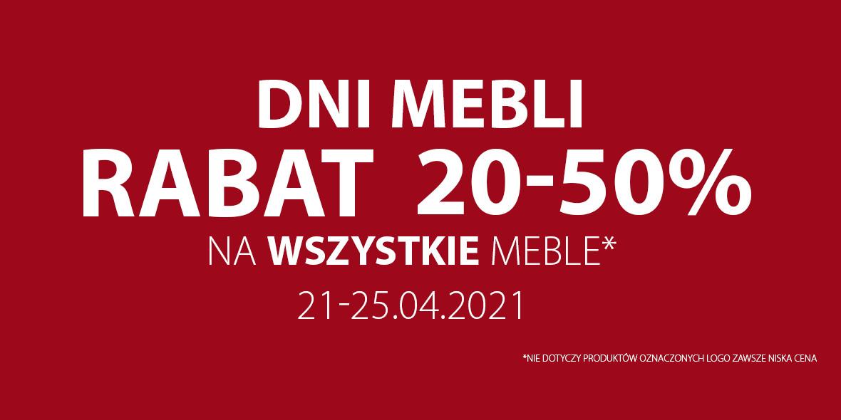 Jysk: Do -50% na wszystkie meble 21.04.2021
