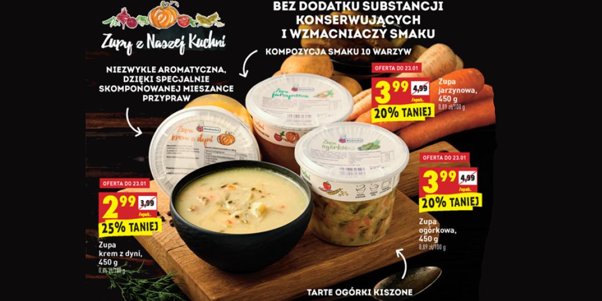 Biedronka: Do -25% na Zupy z Naszej Kuchni 21.01.2021