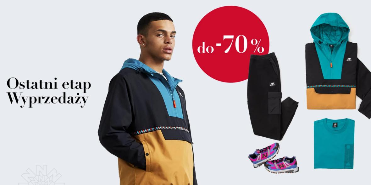 New Balance: Do -70% odzież i obuwie