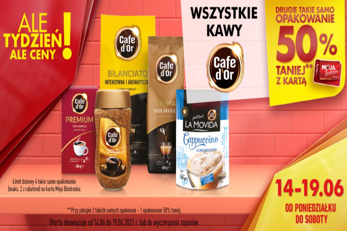Biedronka: -50% na wszystkie kawy Cafe d'Or
