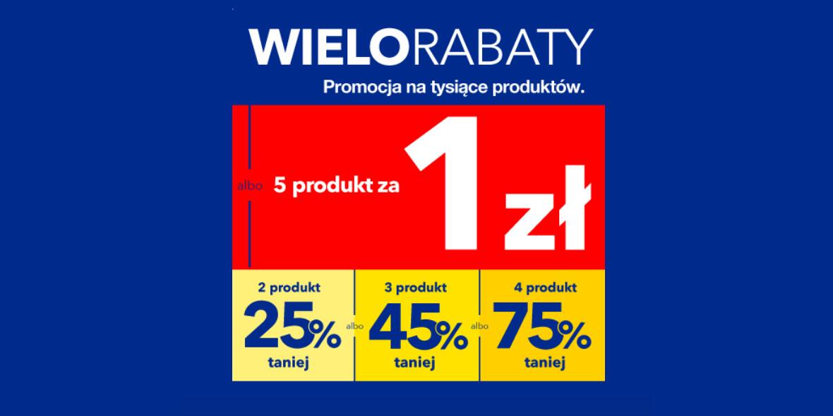 RTV EURO AGD: Do -75% lub piąty produkt za 1 zł 19.10.2021