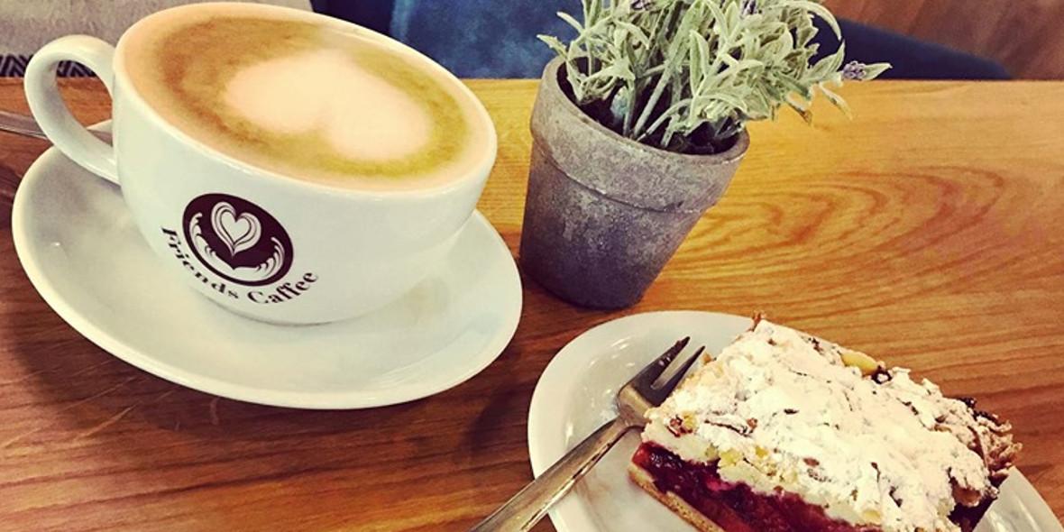 Friends Coffee: -15% na zestaw mała kawa + ciasto
