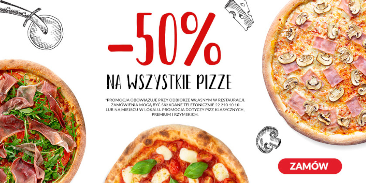 Pizza Dominium: -50% na wszystkie pizze 01.01.0001