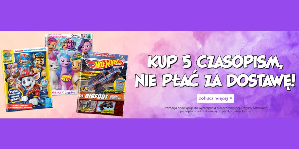 Egmont.pl: Darmowa dostawa przy zakupie 5 czasopism 06.09.2021