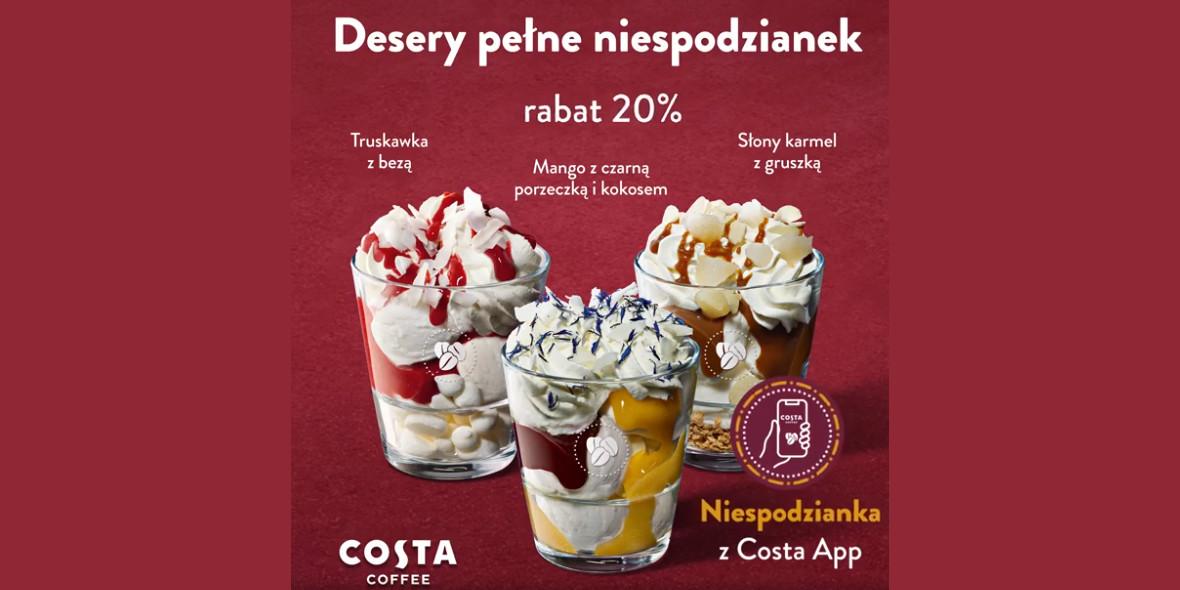 Costa Coffee: -20% na wszystkie desery lodowe 04.08.2021