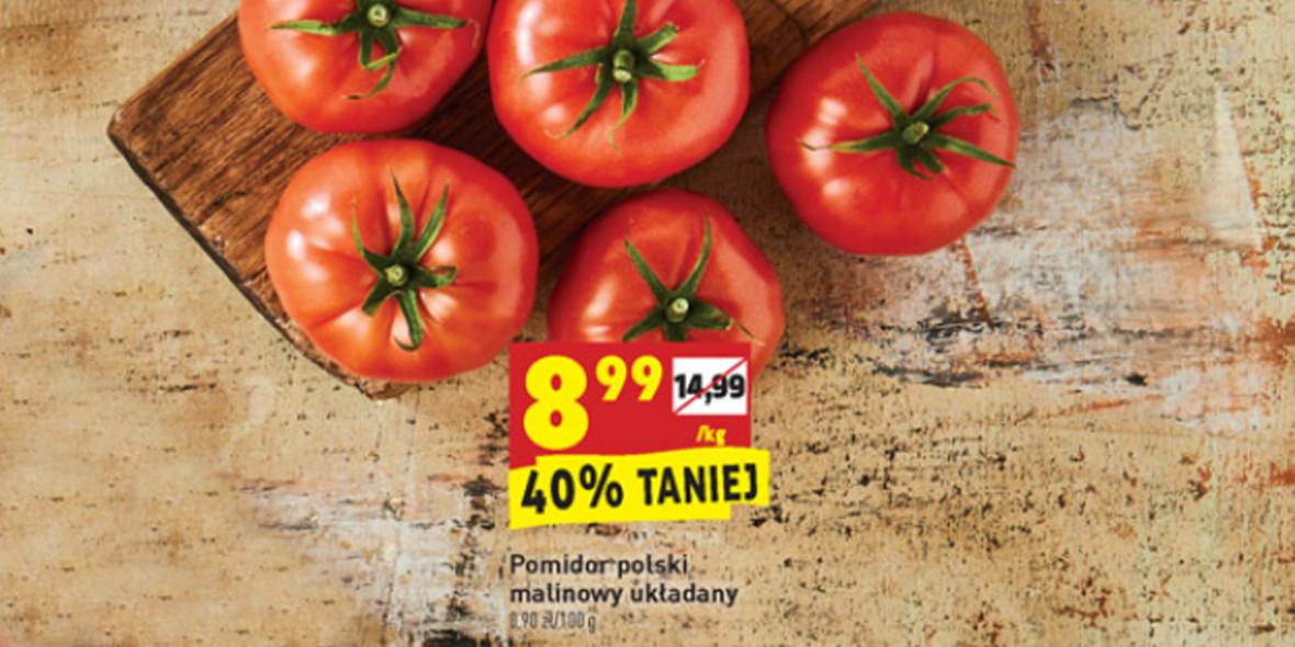 Biedronka:  -40% na pomidory polskie malinowe 19.04.2021