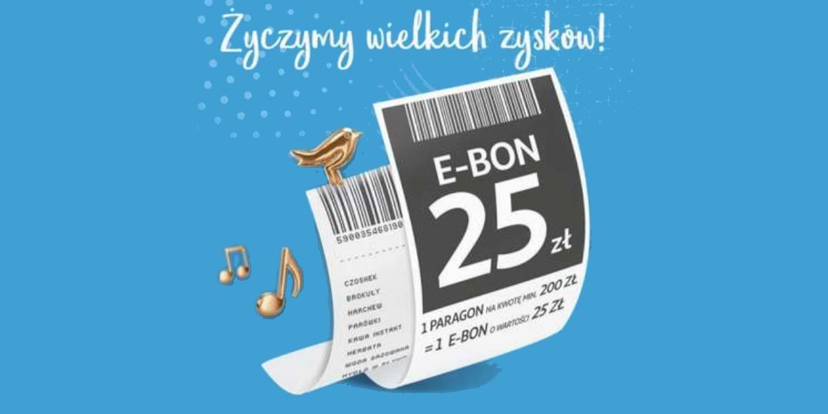 Auchan: E-BON -25 zł na kolejne zakupy 14.05.2021
