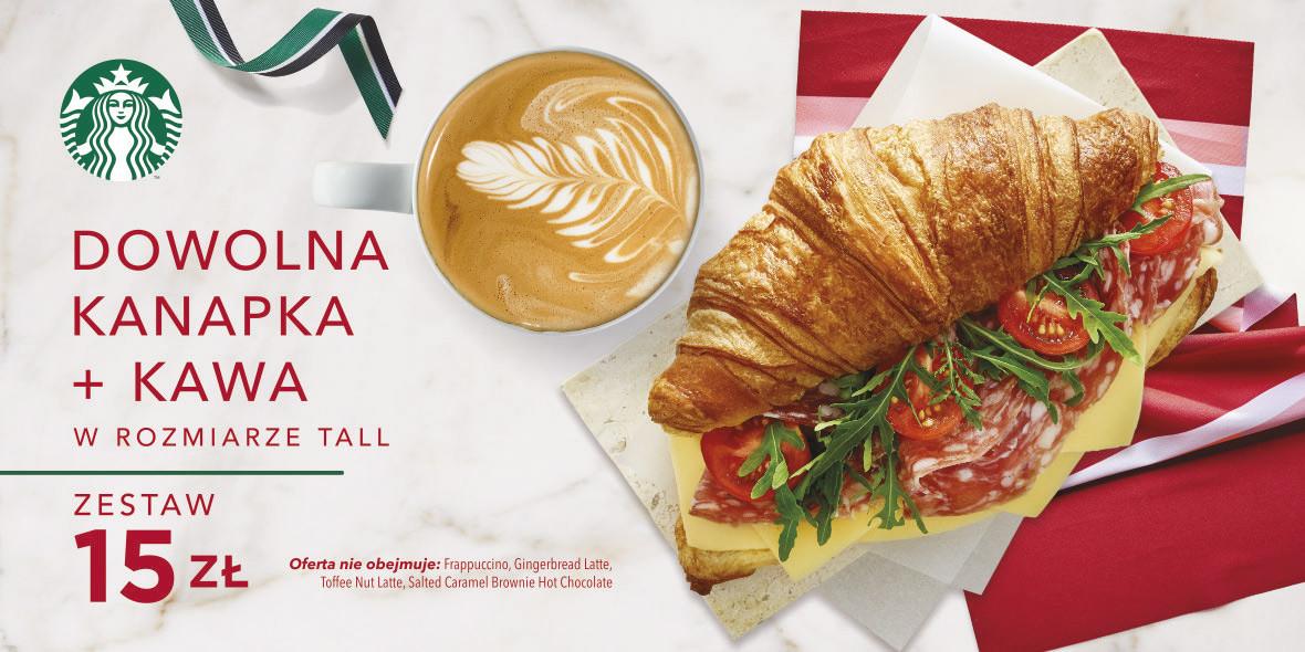 za zestaw: kawa + dowolna kanapka