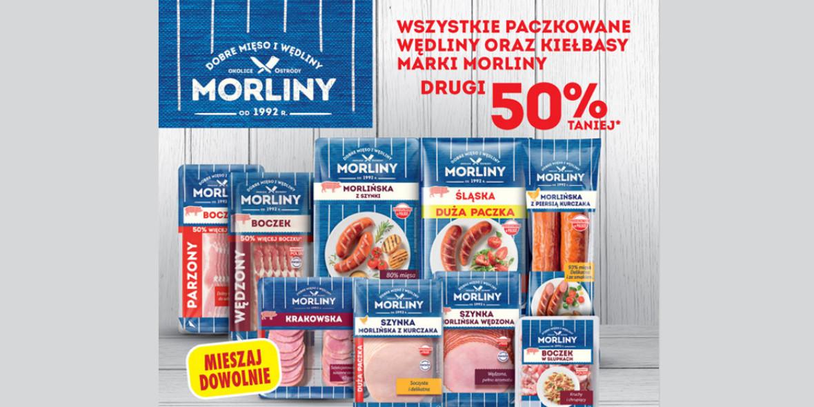 Biedronka: -50% na paczkowane wędliny oraz kiełbasy Morliny 20.09.2021