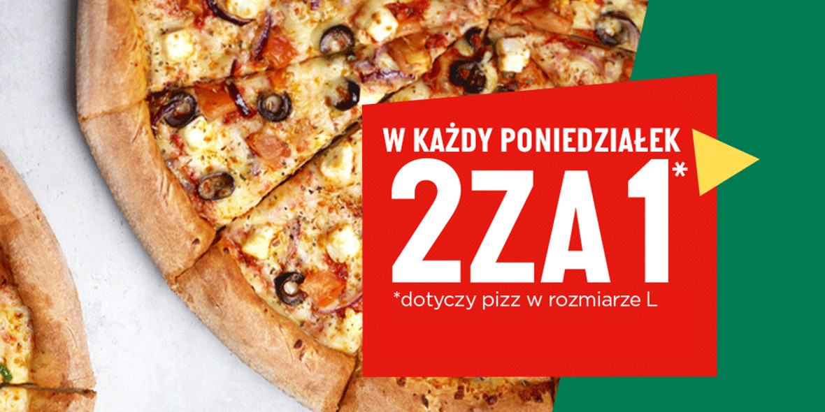 Papa John's: 2 za 1 dotyczy pizz w rozmiarze L 01.01.0001