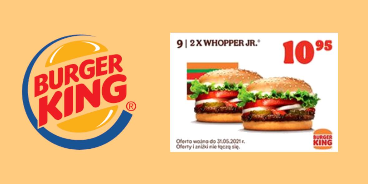 Burger King: 10,95 zł za 2x Whopper Jr. 23.04.2021