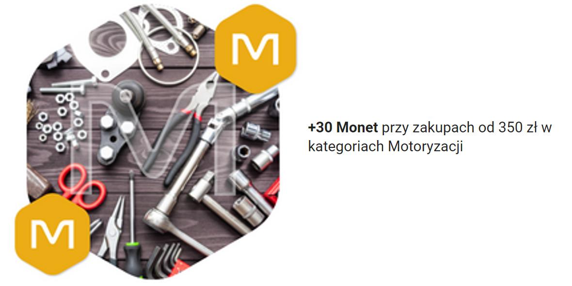 Allegro: +30 Monet przy zakupach od 350 zł w kat. Motoryzacji 17.10.2021