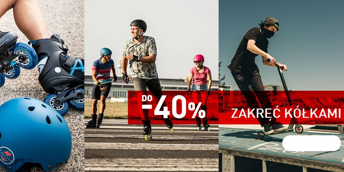 Intersport: Do -40% na rolki, deskorolki i hulajnogi 25.02.2021
