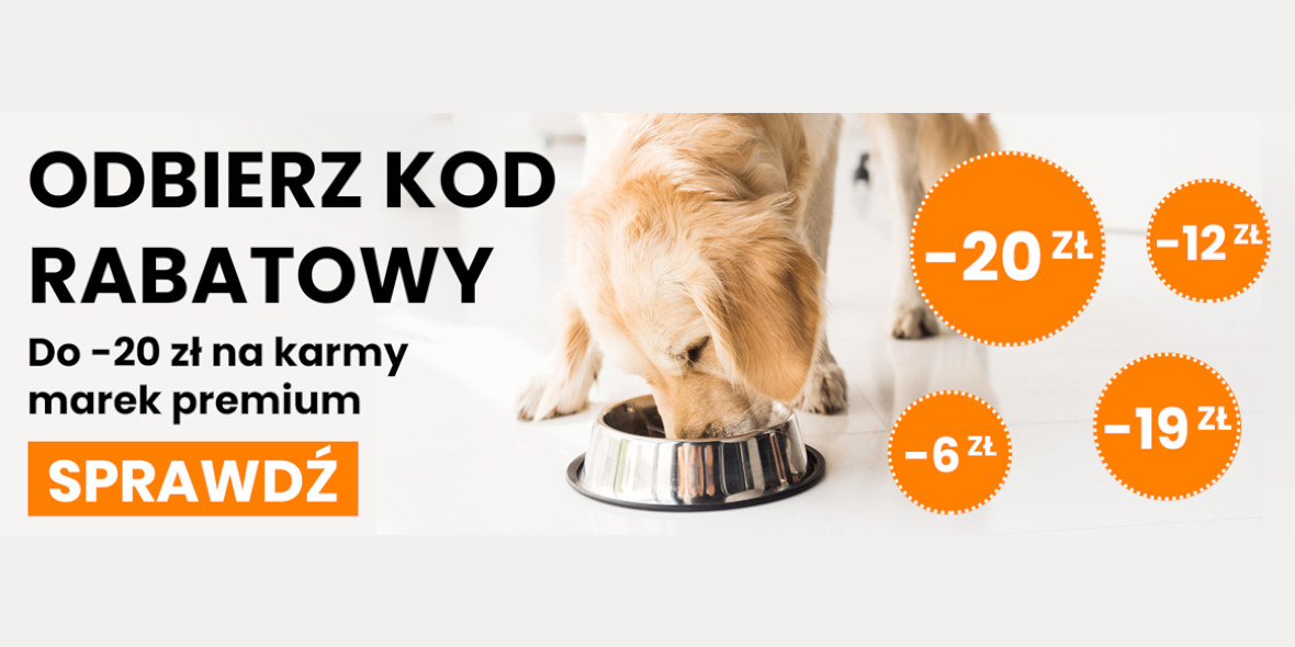 Krakvet: Do -20 zł na karmy marek premium 08.10.2021