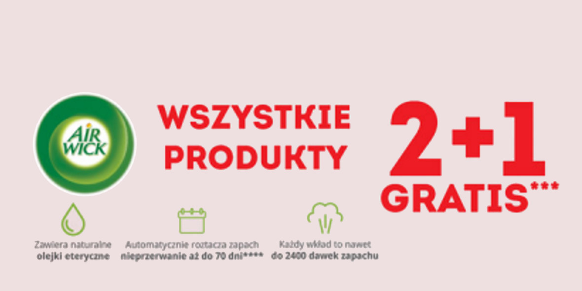 Biedronka: 2 + 1 na wszystkie produkty Air Wick® 20.10.2021