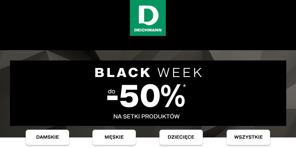 Deichmann: Do -50% na Black Week 23.11.2020
