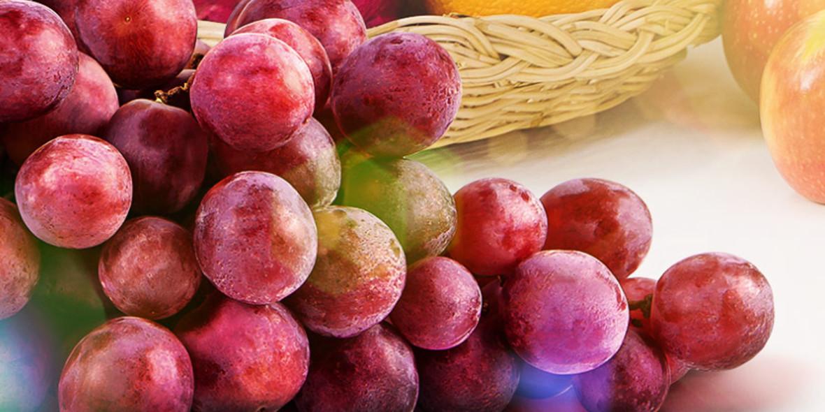 Stokrotka Supermarket: 5,99 zł/kg za winogrona 17.09.2021
