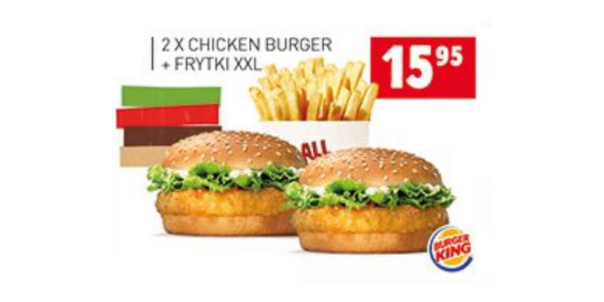 2x Chicken Burger + Frytki XXL