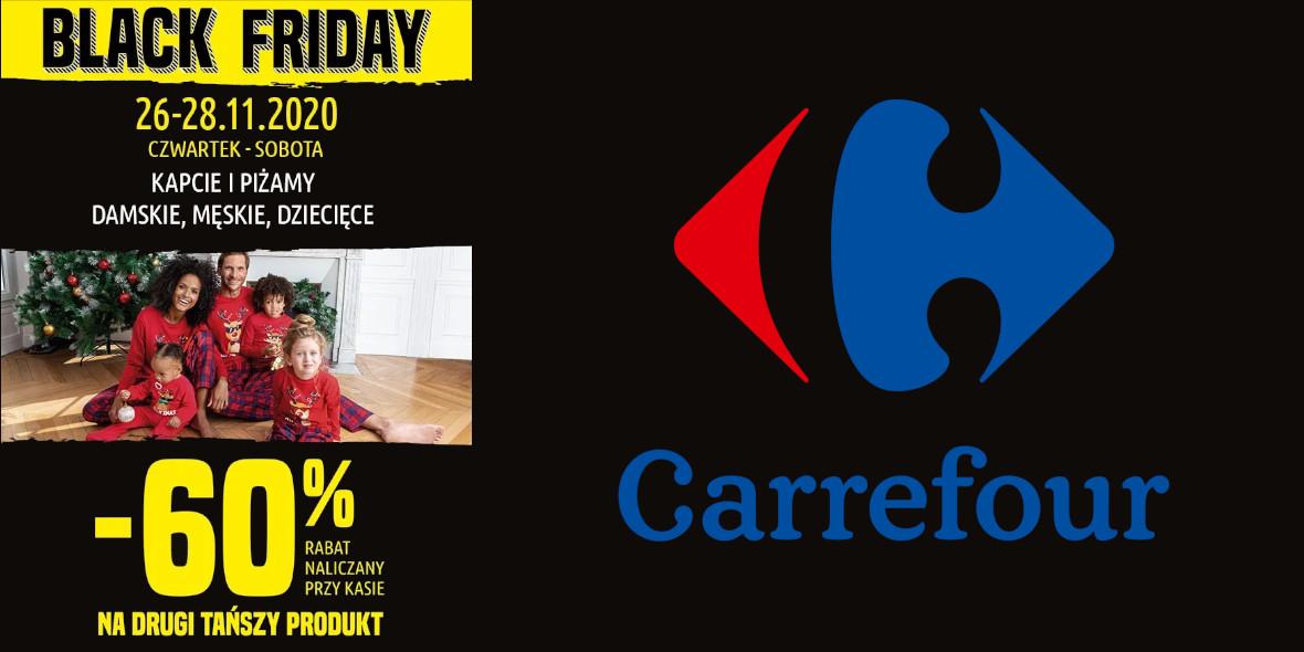 Carrefour: -60% na drugi tańszy produkt 26.11.2020