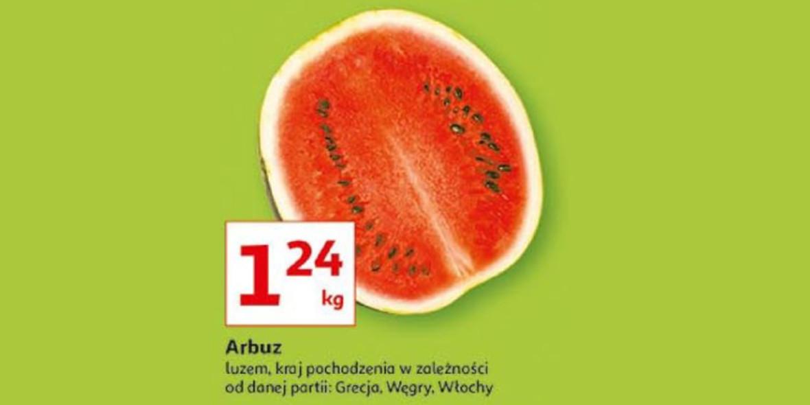 Auchan: 1,24 zł za kilogram arbuza 29.07.2021