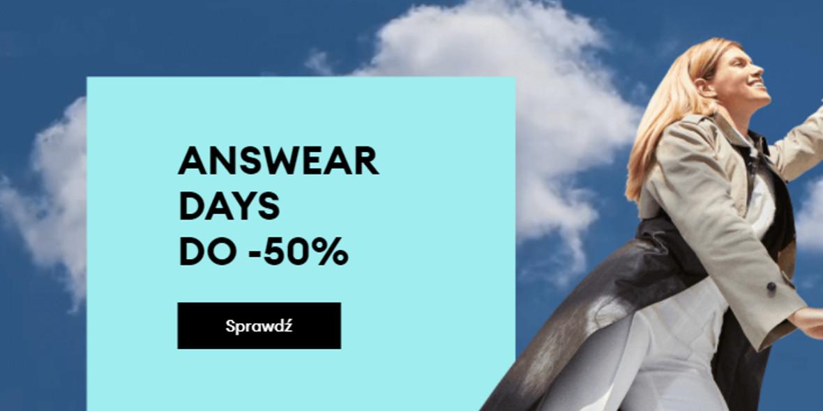 Answear.com:  Do -50% na Answear Days 21.10.2021