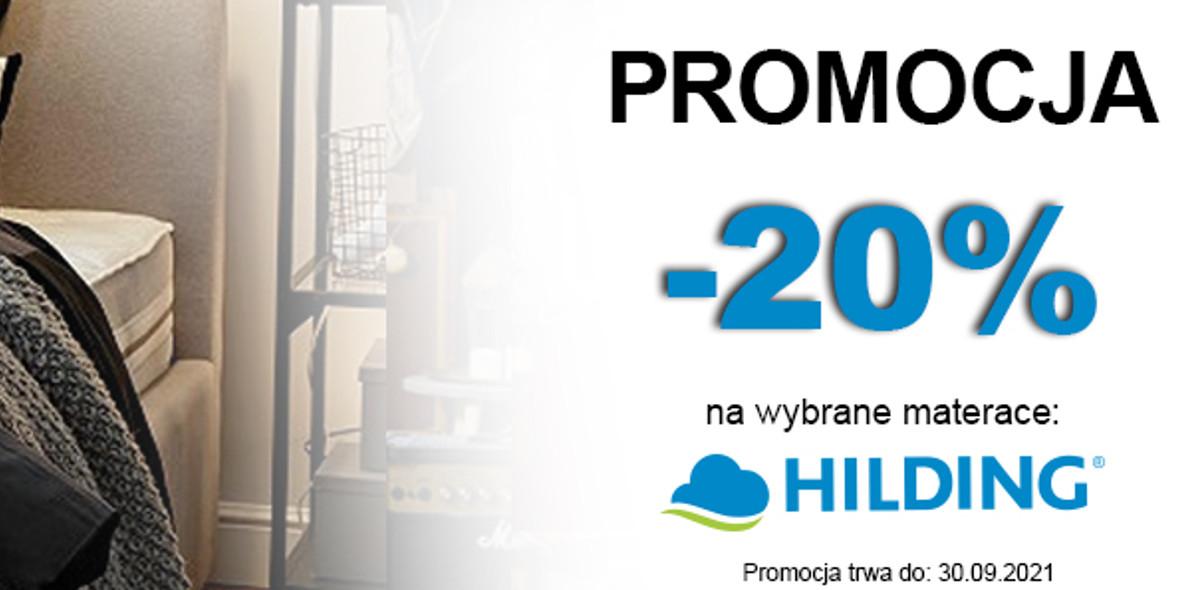 Meble-Bogart.pl:  -20% na wybrane materace HILDING 14.09.2021