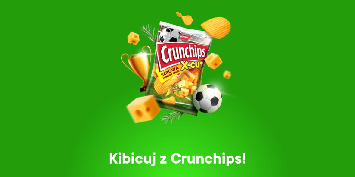Żabka: 1 żapps za paczkę chipsów Crunchips 16.06.2021