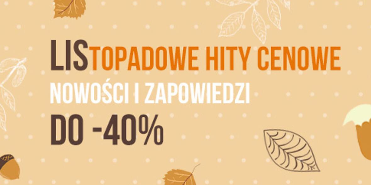 niePrzeczytane.pl: Do -40% na nowości i zapowiedzi
