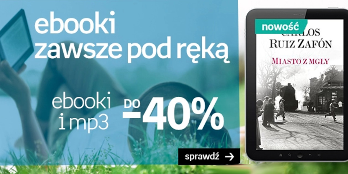 Empik:  Do -40% na ebooki i mp3 08.05.2021