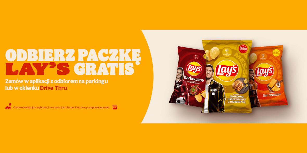 Burger King: Gratis paczka chipsów Lay's 01.01.0001