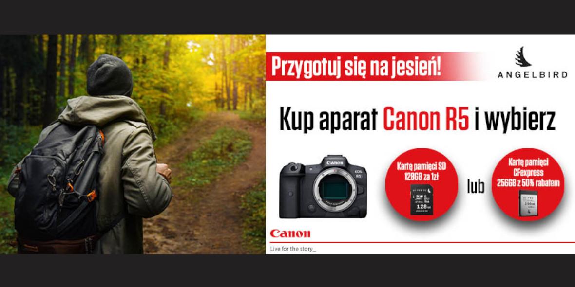 FotoForma: Prezent przy zakupie aparatu Canon EOS R5 03.09.2021