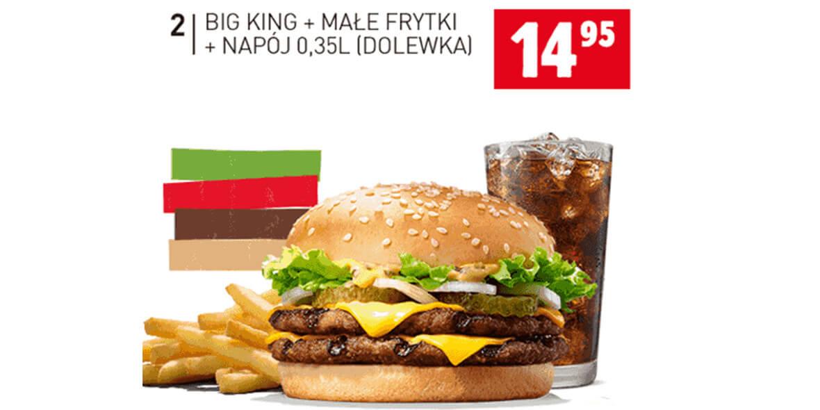za Big King + małe frytki + napój 0,35l