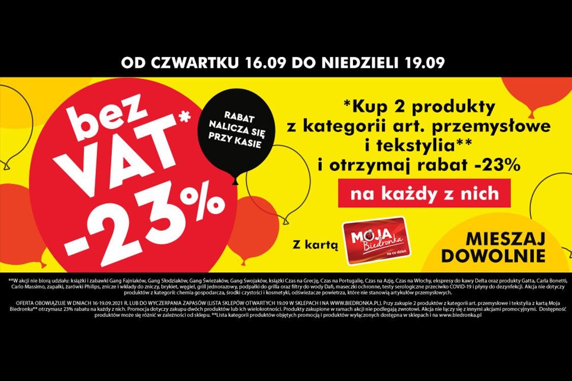 :  Bez VAT na art. przemysłowe i tekstylia