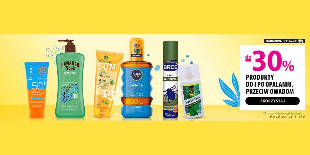 hebe: Do -30% na produkty do opalania i przeciw owadom 21.06.2021