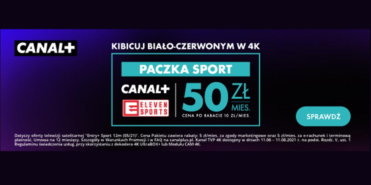 Canal+: 50 zł/mies. za paczkę SPORT razem z pakietem Entry+