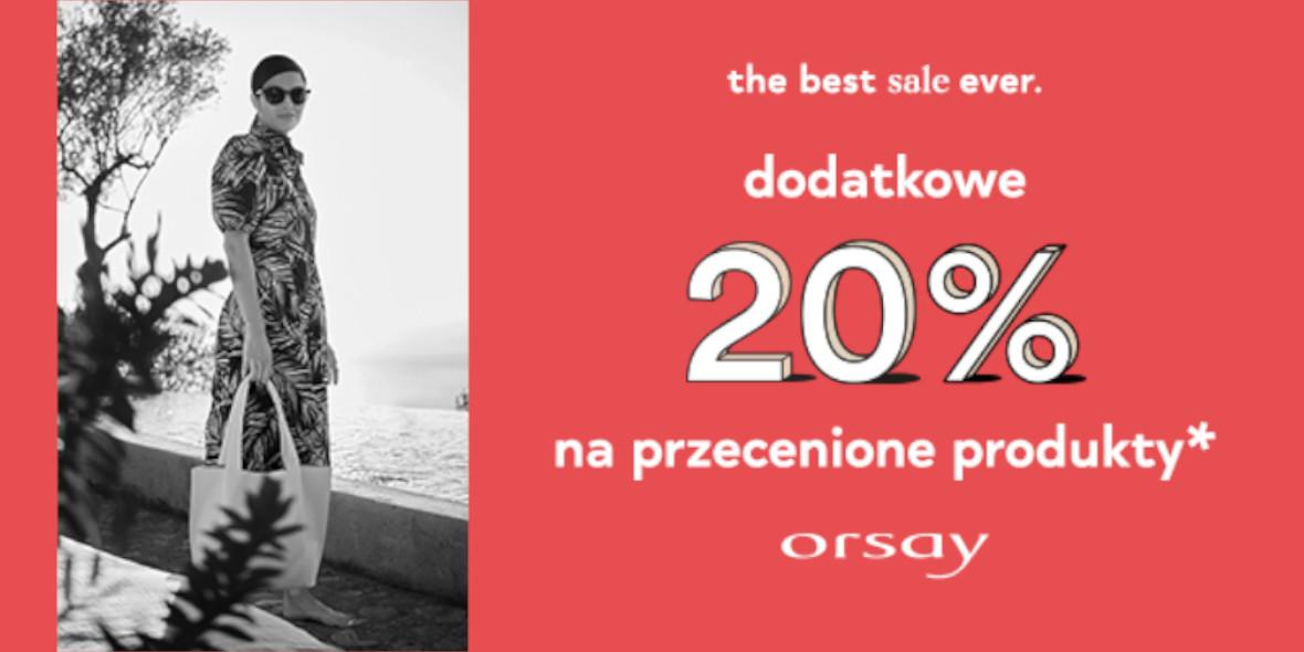 Orsay:  Dodatkowe -20% na wyprzedaż 29.07.2021
