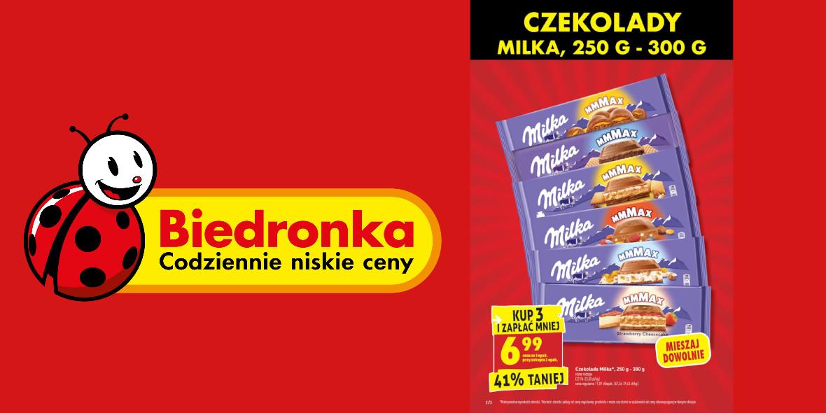 Biedronka: 6,99 zł za czekoladę Milka 26.07.2021