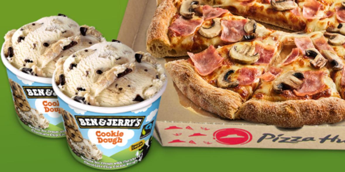 Pizza Hut: 39,99 zł za średnią pizzę i 2 x lody Ben&Jerry's