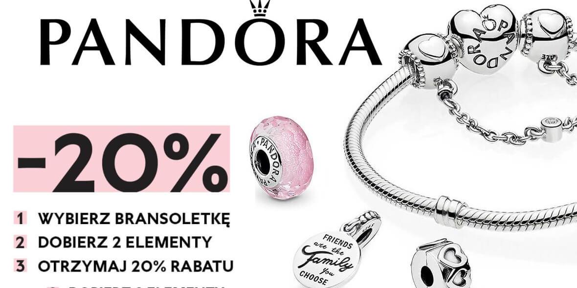 Pandora:  -20% rabatu na bransoletkę z dwoma elementami 01.06.2021