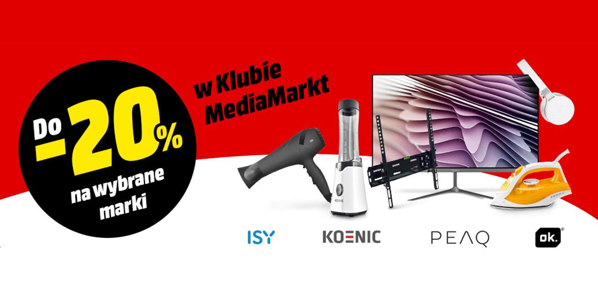 Media Markt: Do -20% na wybrane marki 21.06.2021