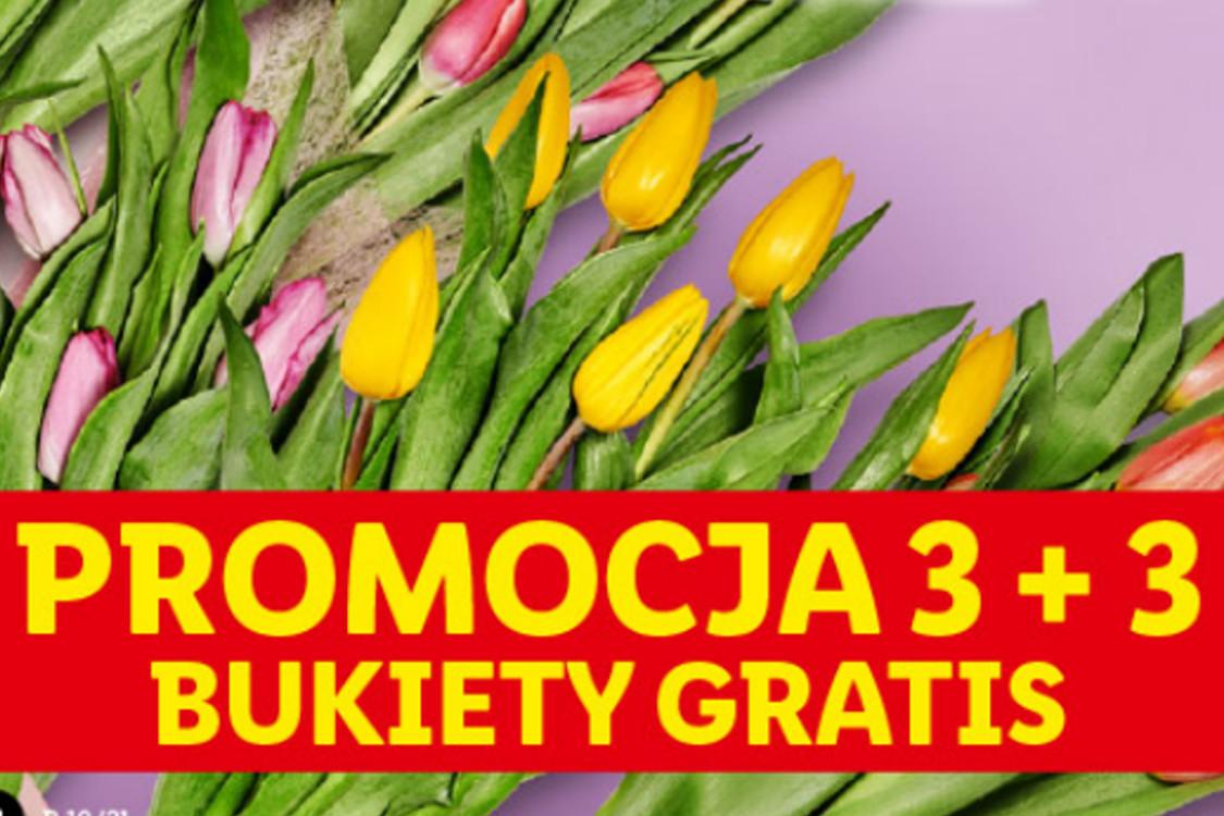 Lidl:  3 + 3 bukiety gratis 08.03.2021
