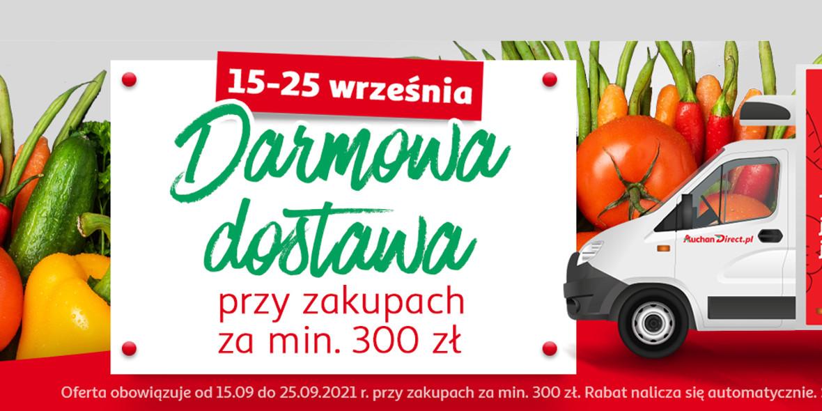 AuchanDirect:  Darmowa Dostawa 16.09.2021