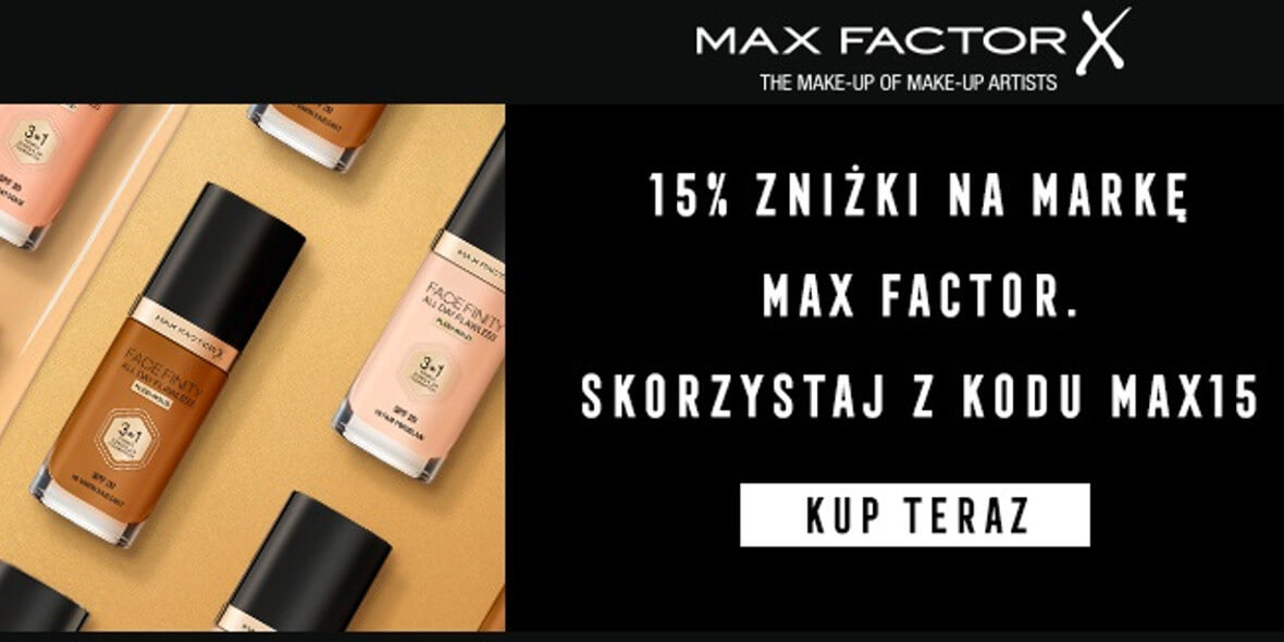 Notino: Kod: -15% na markę Max Factor 02.03.2021