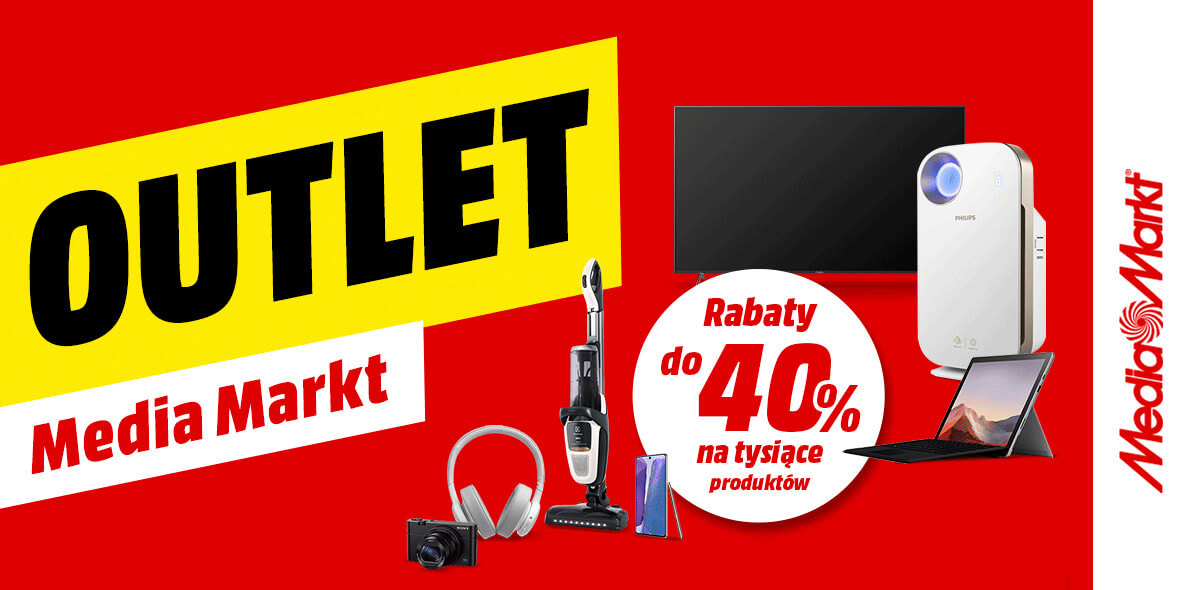 Media Markt: Do -40% w outlet 01.01.0001