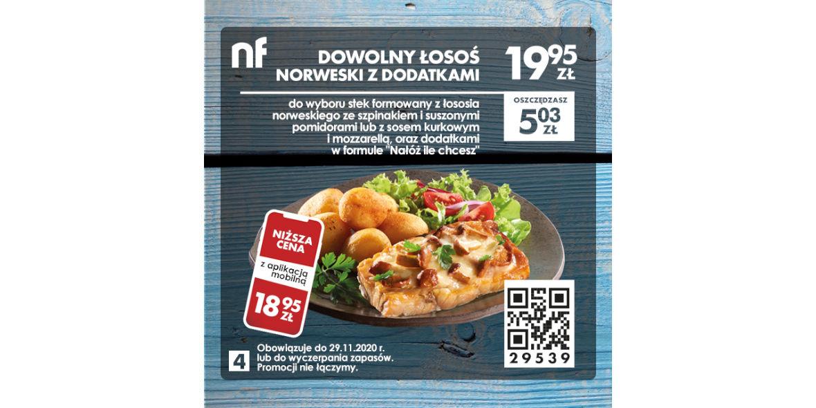 North Fish: 19,95 zł Dowolny łosoś norweski z dodatkami 07.09.2020