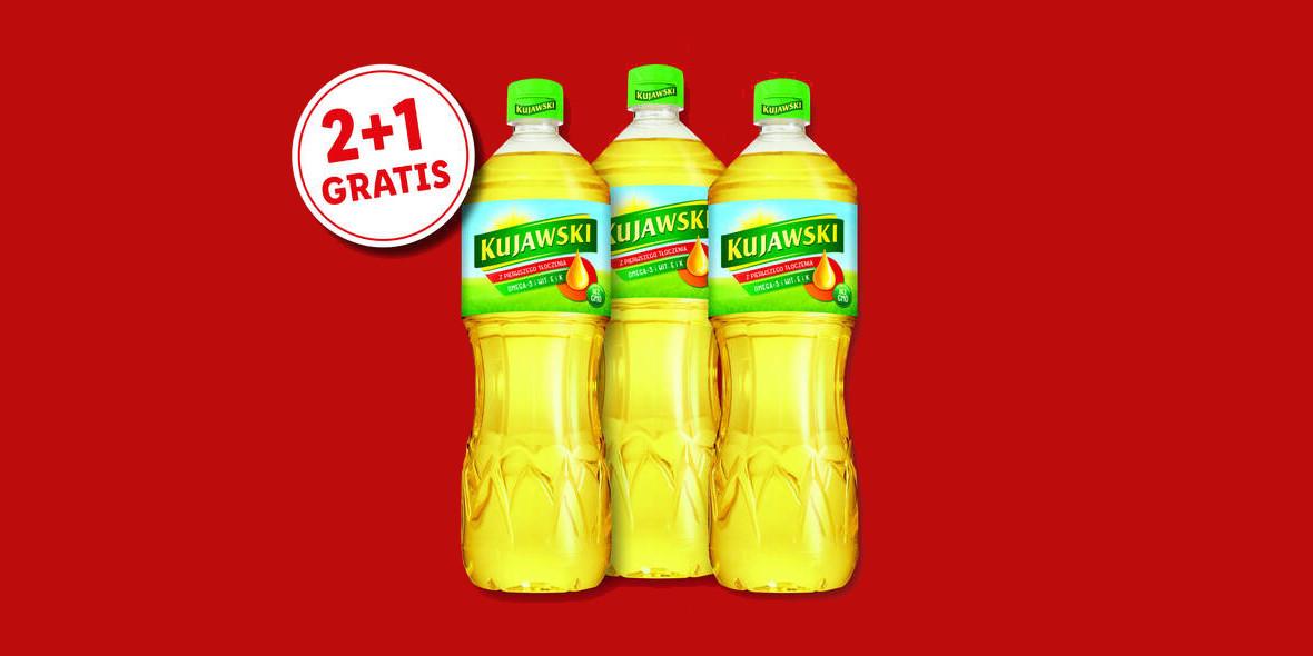 Lidl: 2 + 1 na olej Kujawski 04.03.2021