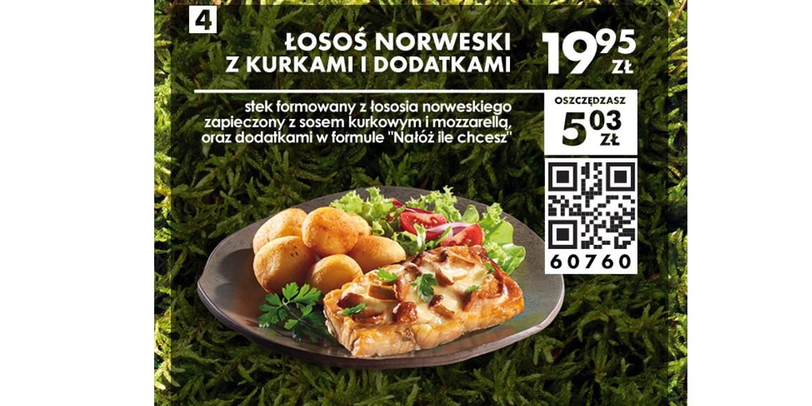 Łosoś norweski z kurkami i dodatkami