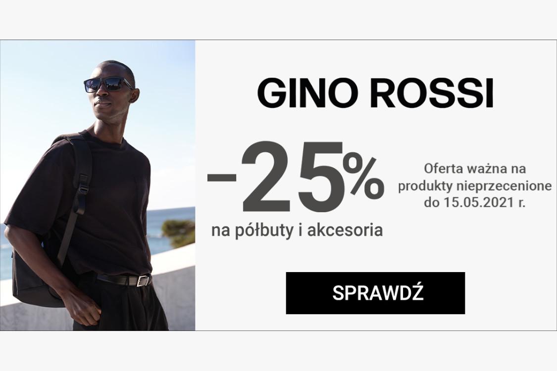 Gino Rossi: Kod: -25% na półbuty i akcesoria