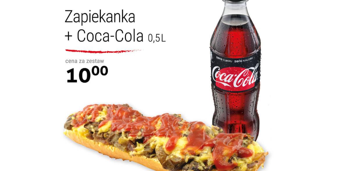 za zestaw: zapiekanka + cola
