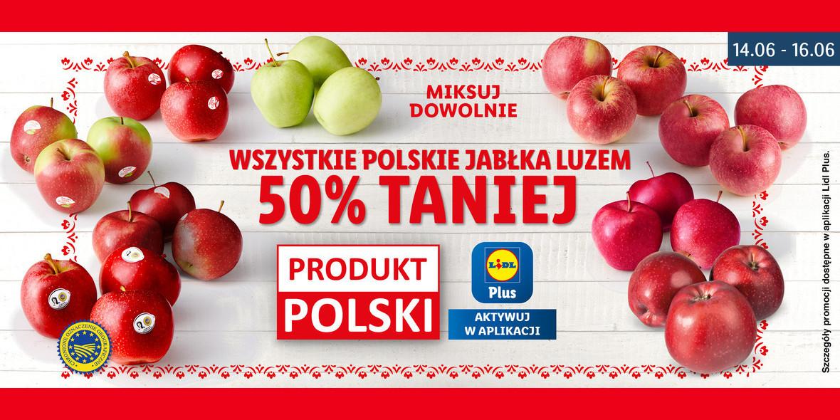 Lidl: -50% na wszystkie polskie jabłka 14.06.2021